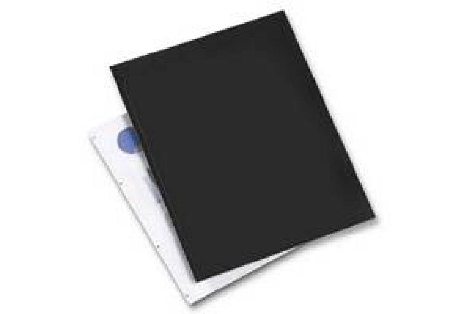 Rexel Back Binding Covers Cardboard Black A3 Rgs