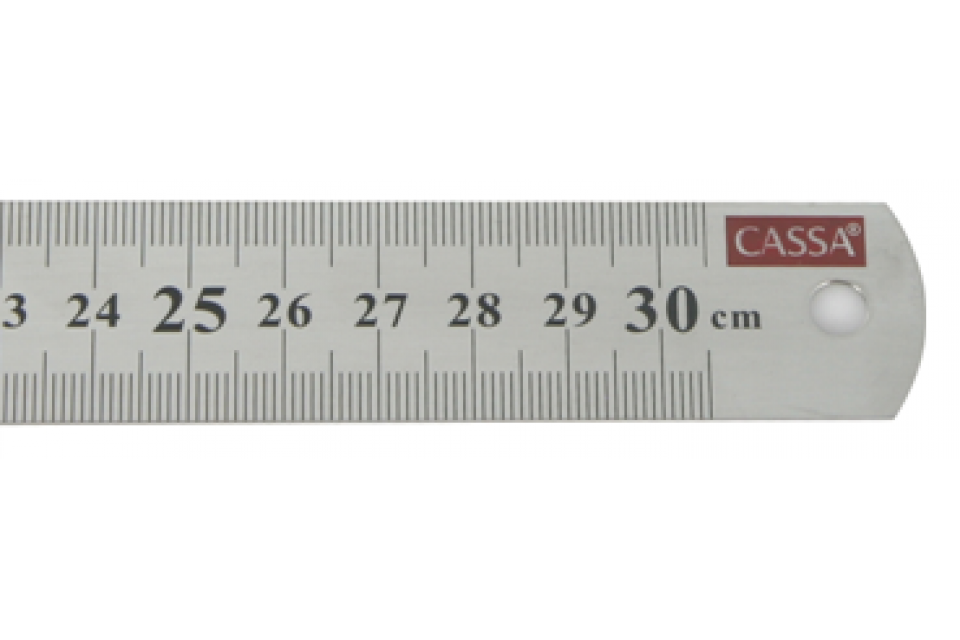 Cassa Steel Ruler 30 Cm Rgs Supplies Malta