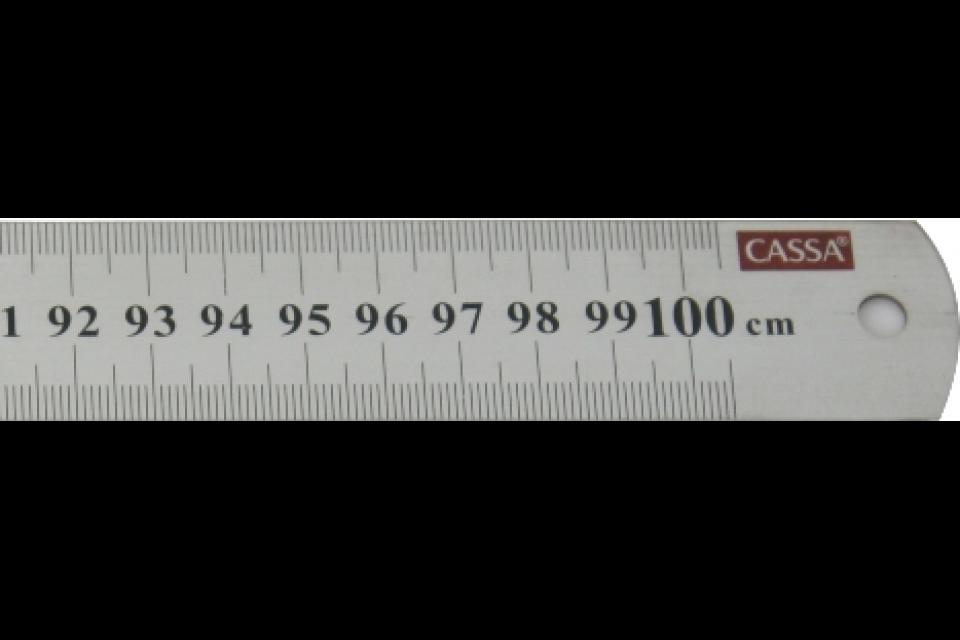 Cassa Steel Ruler 100 Cm Rgs Supplies Malta